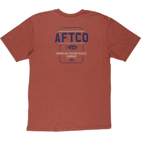 Aftco Release Short Sleeve Tee - Redwood