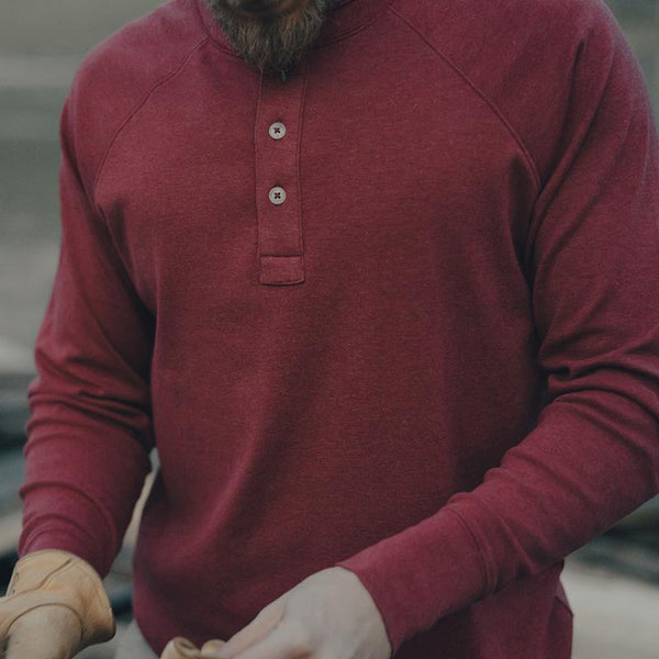 The Normal Brand - Puremeso Henley - Red