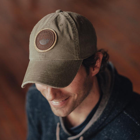 The Normal Brand - Duck Leather Cap - Olive