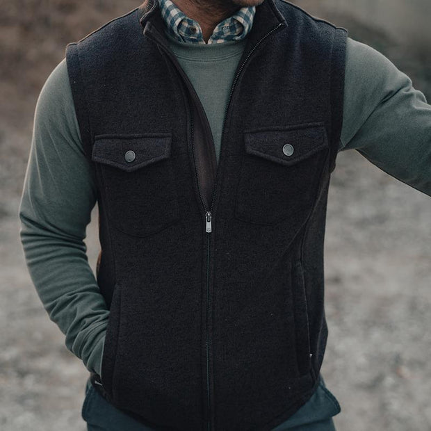 The Normal Brand - Lincoln Fleece Vest - Brown