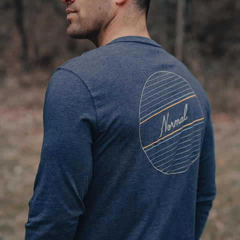 The Normal Brand - No Boundaries LS Tee - Navy
