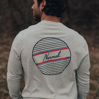 The Normal Brand - No Boundaries LS Tee - Stone
