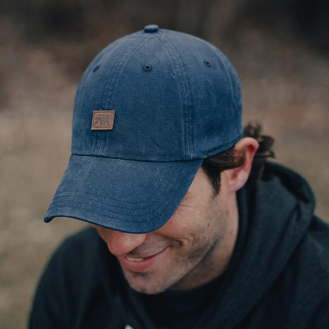 The Normal Brand - Leather Square Cap - Navy