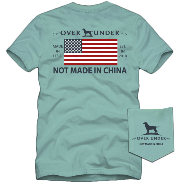 Over Under - Not Made In China SS Tee - Mint Julep