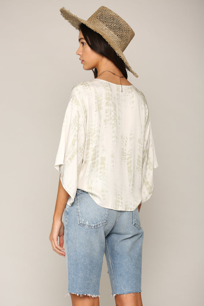 Note To Self Chiffon Print Top