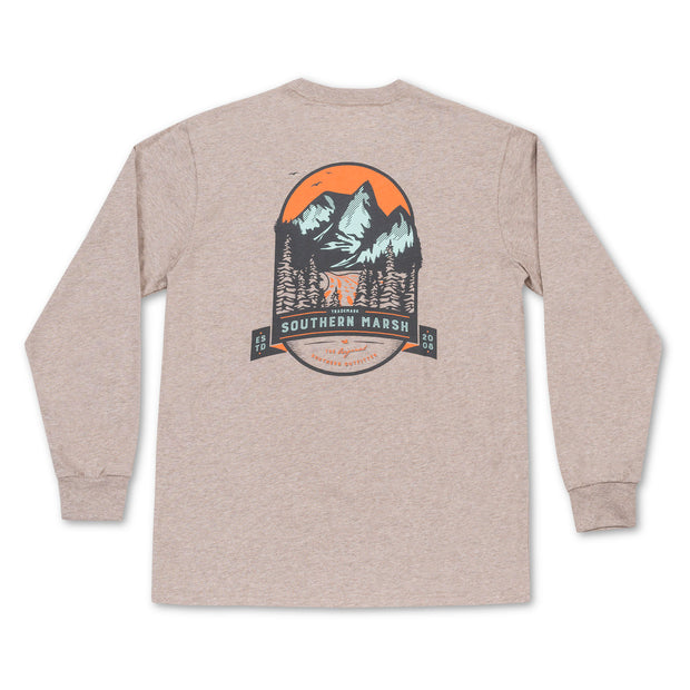 Southern Marsh - Mountain Pass LS Tee - Burnt Taupe