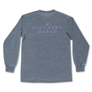 Southern Marsh - Seawash Authentic LS Tee - Washed Navy