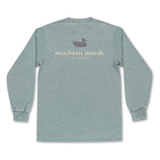 Southern Marsh - Seawash Authentic LS Tee - Burnt Sage