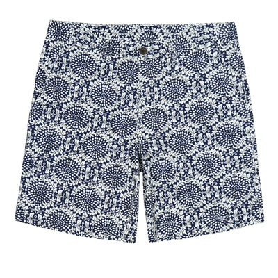 Southern Proper - Society Short - Navy Porch Medallion