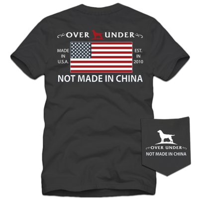 Over Under - Not Made in China SS Tee -  Charcoal