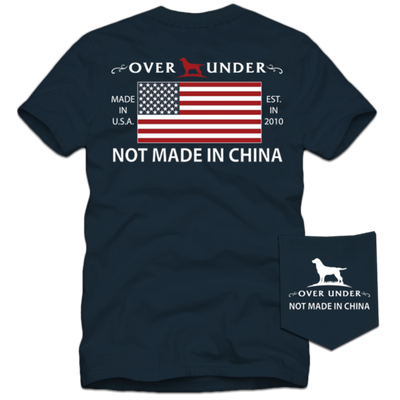 Over Under - Not Made in China SS Tee -  Deep Navy