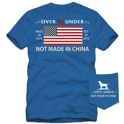 Over Under - Not Made in China SS Tee -  Nautical Blue