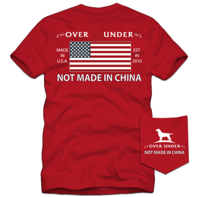 Over Under - Not Made in China SS Tee -  Regatta Red