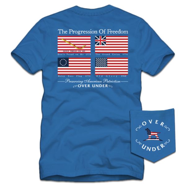 Over Under - Progression of Freedom SS Tee - Nautical Blue