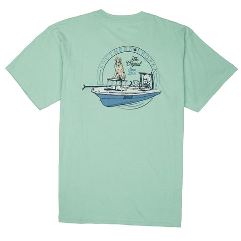 Peach State Pride - Lady Liberty SS Tee - Seafoam