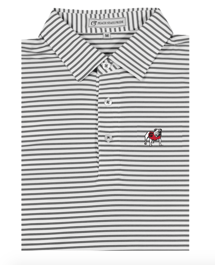 Peach State Pride - UGA Honeysuckle Performance Polo - Standing Dawg