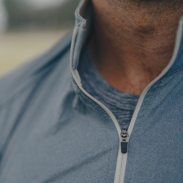The Normal Brand - Performance Quaterzip - Mineral Blue