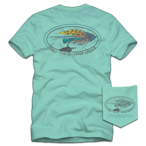 Over Under - Trout 'N Mouth SS Tee - Blue Sky