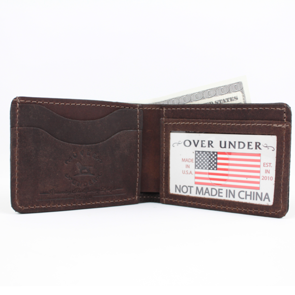 Over Under - Waxed Canvas Bi-Fold Wallet - Olive