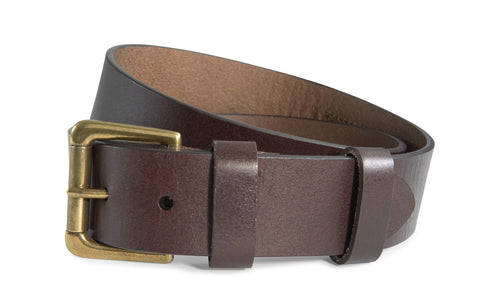 Southern Tide - Leather ST Patch Belt - Brown