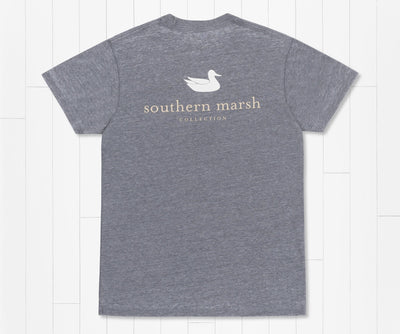 Southern Marsh -  Authentic Seawash SS Tee - Washed Navy