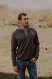 Southern Charm - Auburn Performance 1/4 Zip - Charcoal