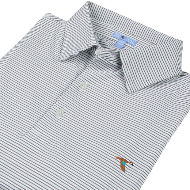 GenTeal - Harbor Stripe Polo- Atlantis