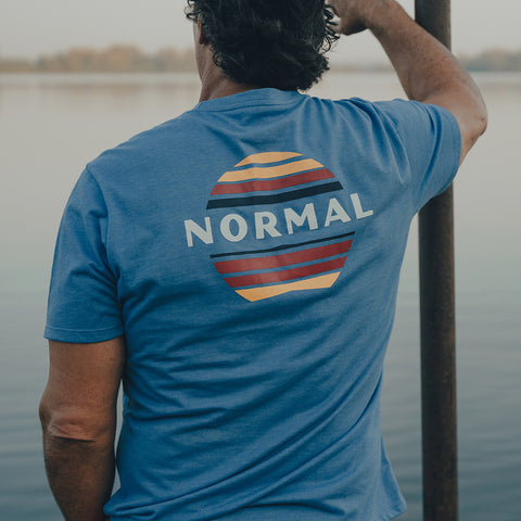 The Normal Brand - Sunset SS Tee - Pacific Blue