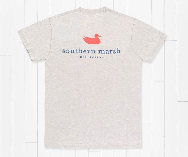 Southern Marsh -  Authentic Seawash SS Tee - Light Grey