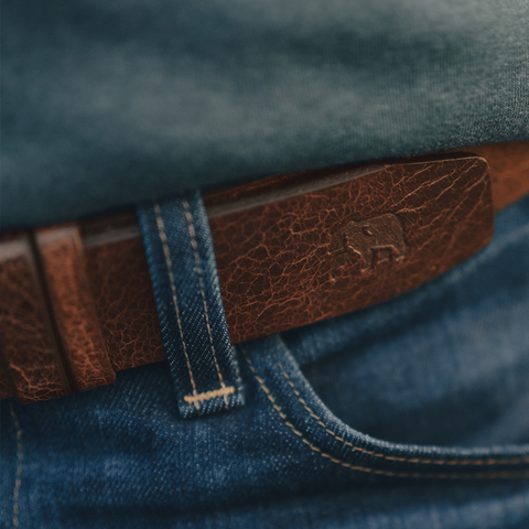 The Normal Brand - Vintage Glazed Leather Belt - Tan
