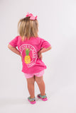 Southern Charm - Youth Pineapple SS Tee - Crunchberry