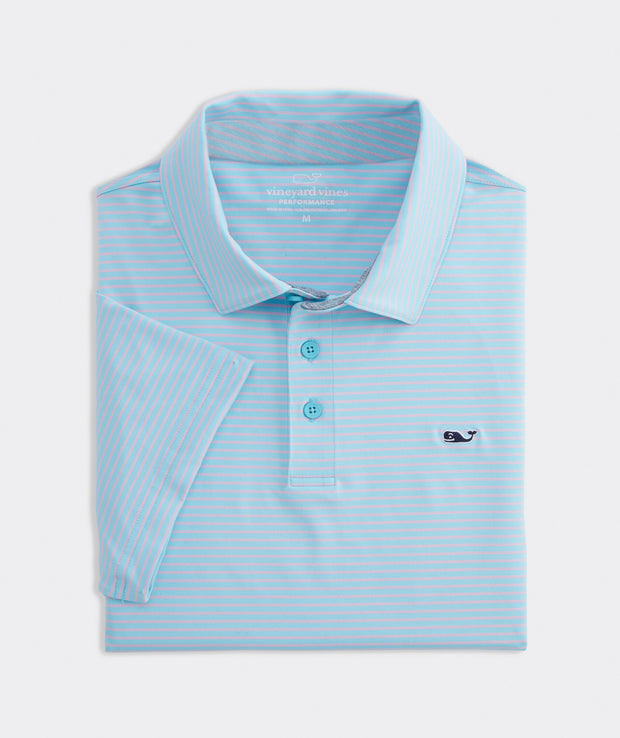 Vineyard Vines - Bradley Stripe Sankty Polo - Sea Splash