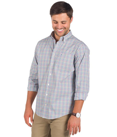 Southern Shirt - Freemont Check Button Down - Uptown