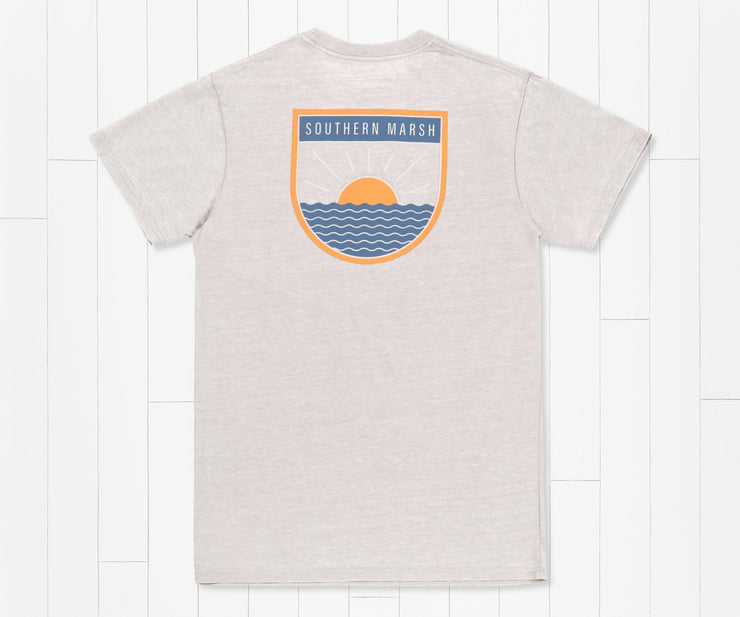 Southern Marsh -  Sunlines Seawash SS Tee - Light Grey