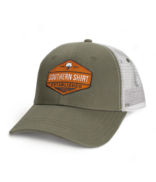 Southern Shirt Co. - Trademark Badge Mesh Back Trucker Hat - Olive
