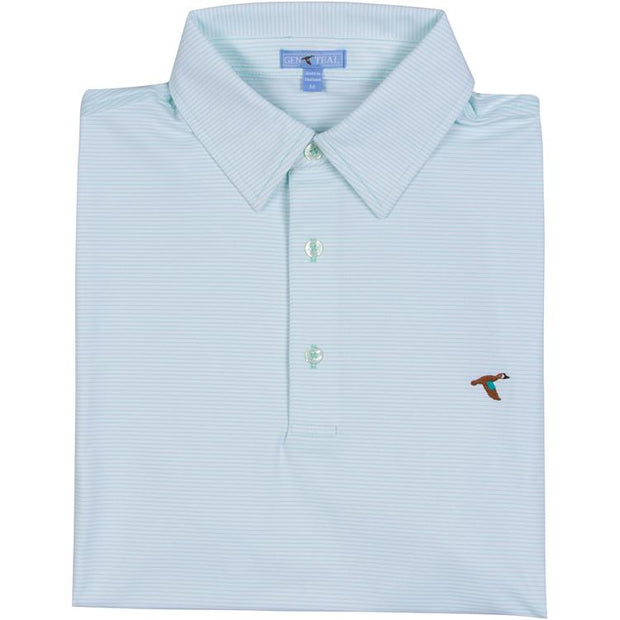 GenTeal - Cay Stripe Polo- Mint