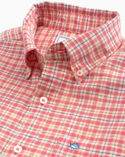 Southern Tide - Course Plaid Sportshirt - Rouge Red