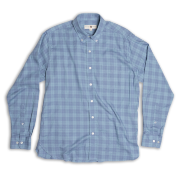 Duck Head - Marshfield Plaid Button Down - Slate Blue
