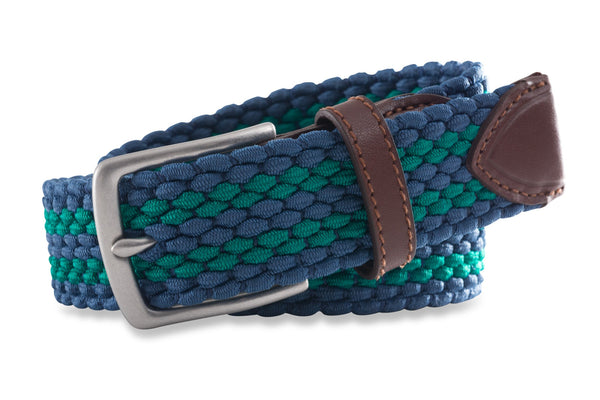 Southern Tide - Braided Web Belt - Augusta Green