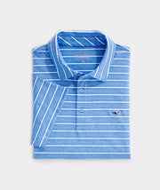 Vineyard Vines - Lakeworth Stripe Polo - Cornflower
