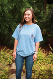 Southern Charm - USA SS Tee - Washed Denim