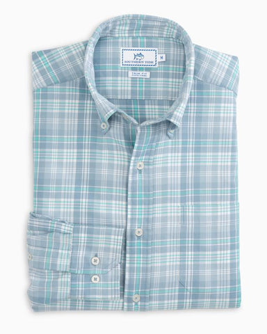 Southern Tide - Marsh Cove Plaid - Ash Blue