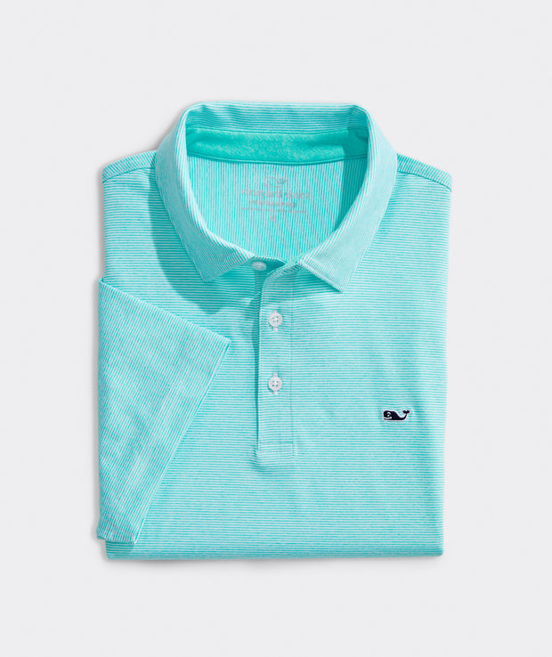 Vineyard Vines - Destin Stripe Sankty Polo - White Flats