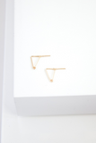 Angle Earring Small 14k