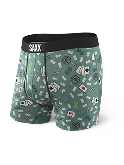 SAXX - Ultra Boxer Open Fly - Green Bar Sports