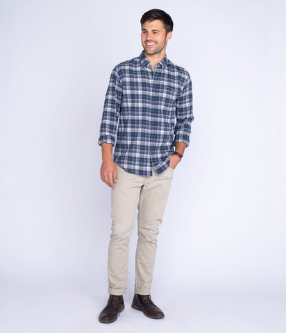 Southern Shirt - Riverchase Flannel - Estate Blue