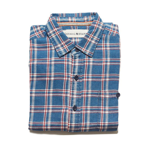 The Normal Brand - Frankfort Indigo Plaid Button Up Shirt