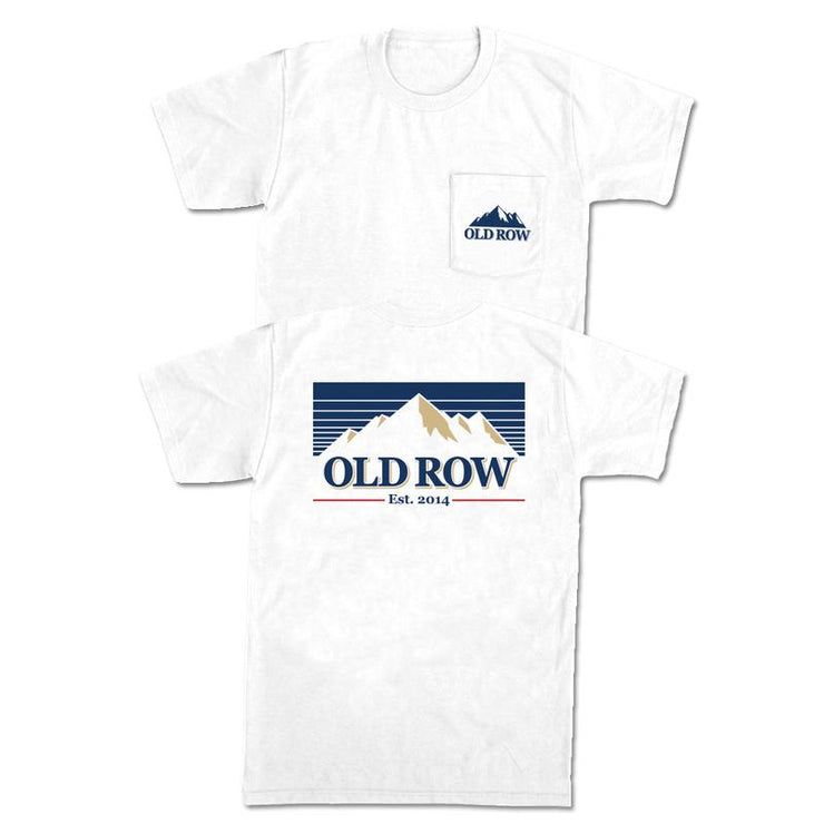 Old Row -  Mountain Brew SS Pocket Tee - White