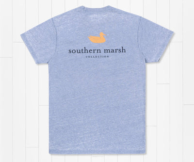 Southern Marsh -  Authentic Seawash SS Tee - Washed Blue