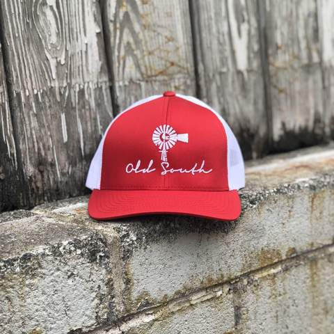 Old South Apparel - Classic Trucker Hat - Red/White